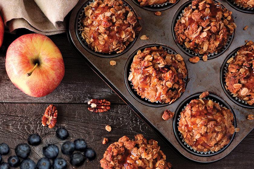 Grain Free Apple, Blueberry & Pecan Muffins